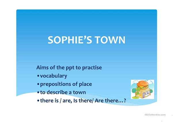 Sophie's Town ppt