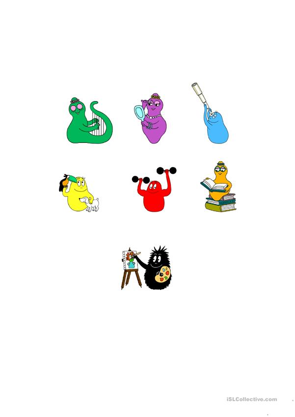the colors with Barbapapa's family