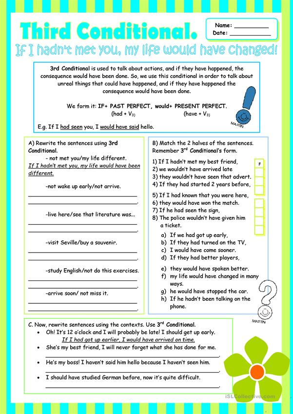 Third Conditional (Grammar Review for Intermediate students)