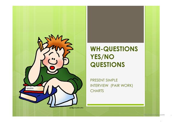 Wh-questions and Yes/No questions ppt
