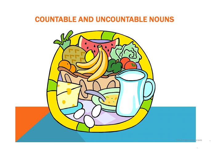 Countable and uncountable nouns - ESL powerpoints
