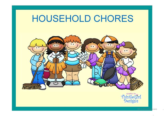 English Teaching Worksheets Household Chores: Printable Household ...