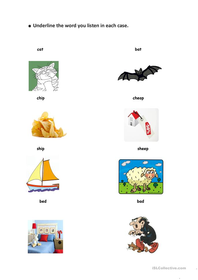 Missing Vowels: Minimal Pairs with I and Ee Sounds