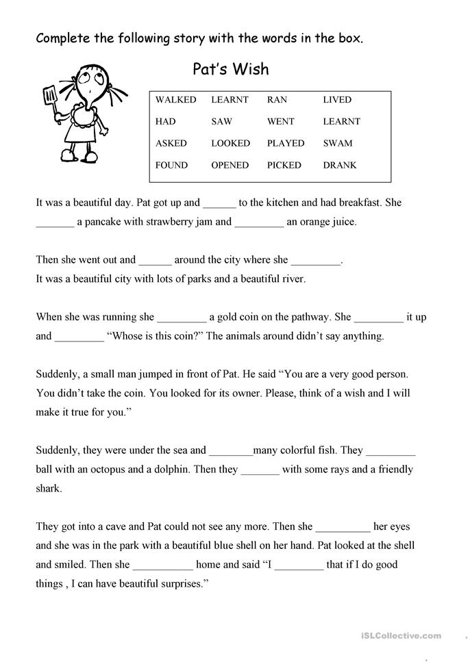 Printables Fill In The Blank Worksheets 36 free esl fill in the blank worksheets wish blank