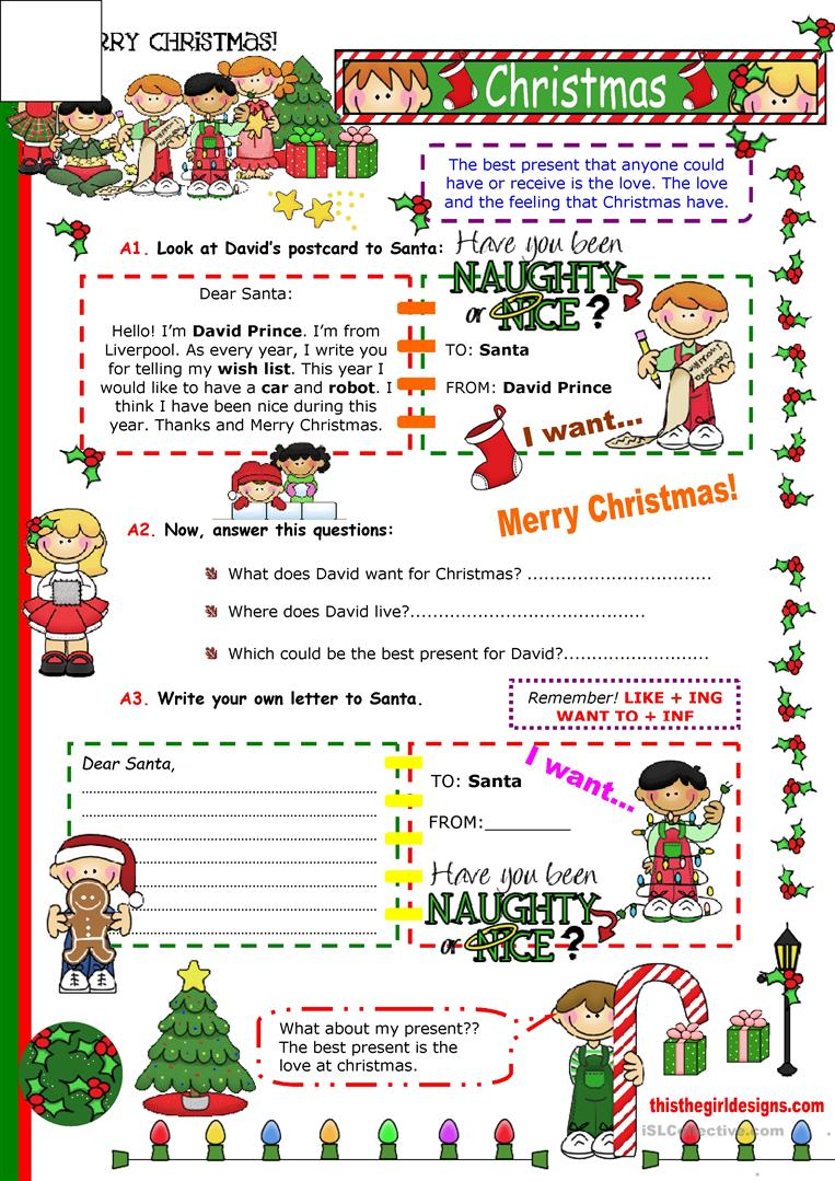 Christmas Cards English Esl Worksheets For Distance Learning And Physical Classrooms