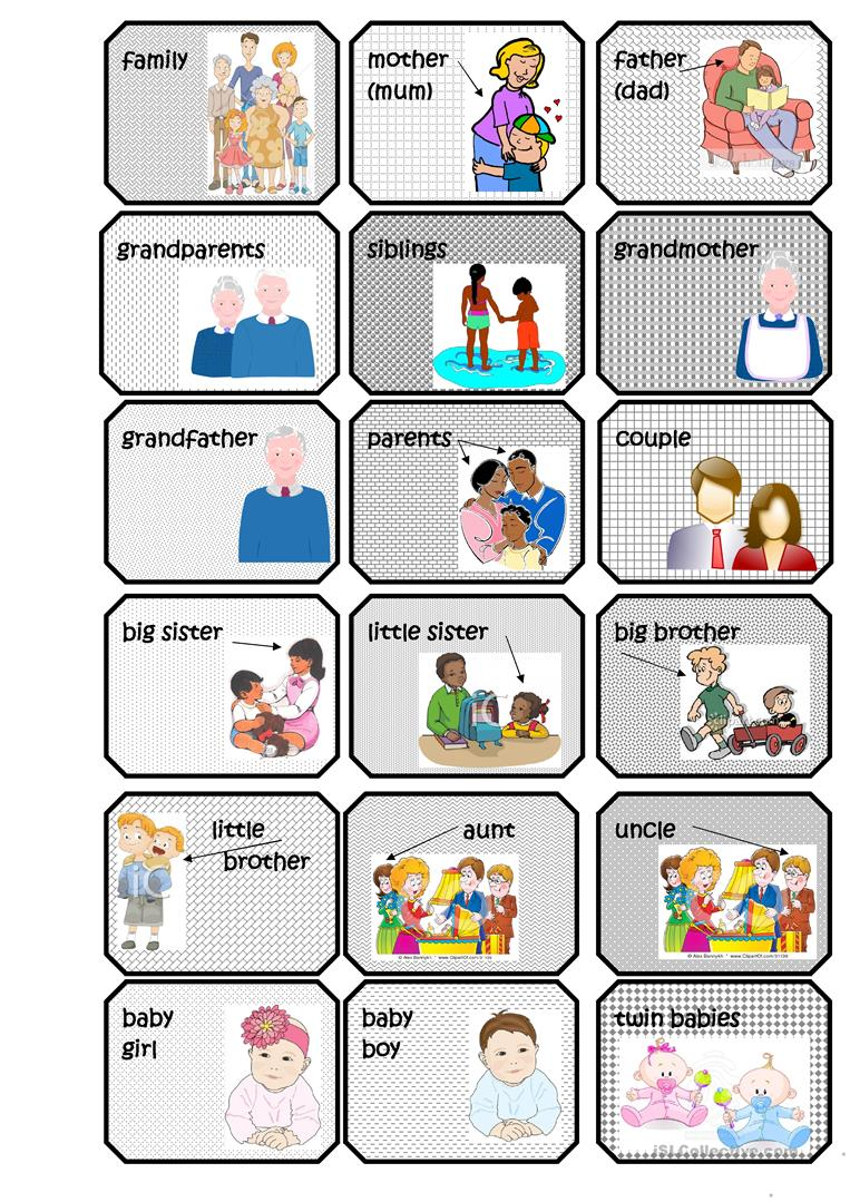 Family Flashcards English Esl Worksheets For Distance Learning And Physical Classrooms