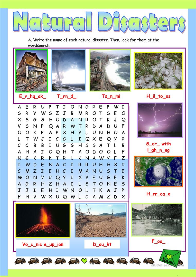 43 Free Esl Natural Disasters Worksheets