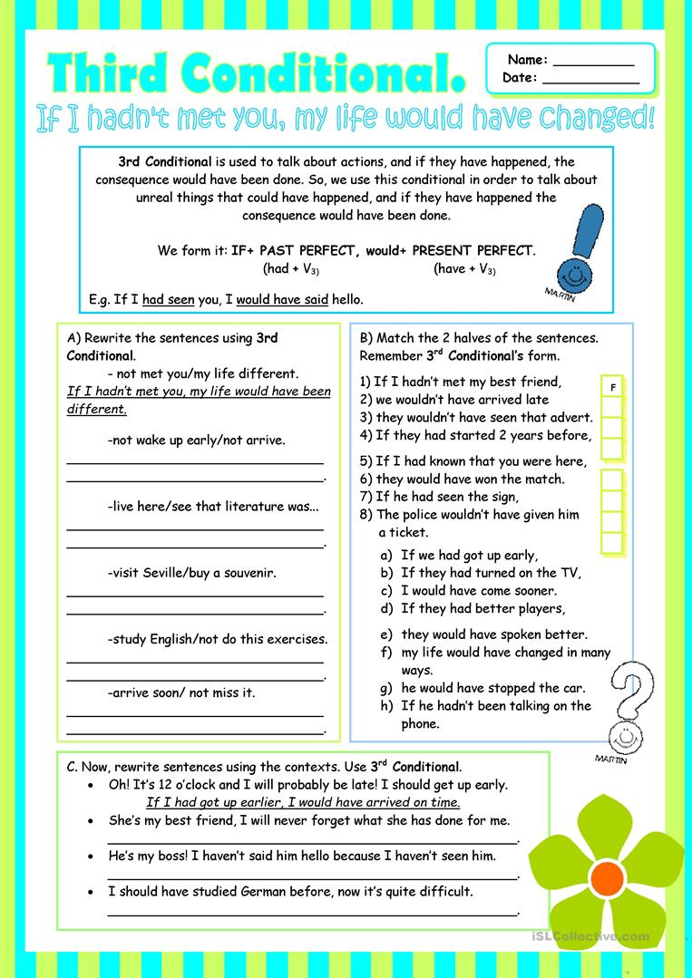 third conditional grammar review for intermediate students worksheet free esl printable. Black Bedroom Furniture Sets. Home Design Ideas