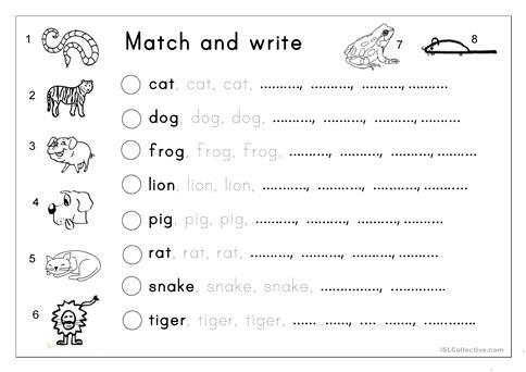 Matching letter tracing writing animals worksheet free esl matching letter tracing writing animals spiritdancerdesigns Choice Image