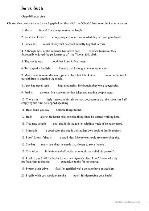 So vs such worksheet free esl printable worksheets made by teachers so vs such solutioingenieria Image collections