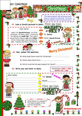 English Esl Christmas Cards Worksheets Most Downloaded 40 Results