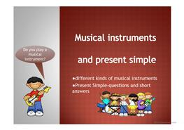 10 FREE ESL musical instruments Powerpoint presentations, exercises