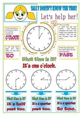 58 FREE ESL Telling the time worksheets