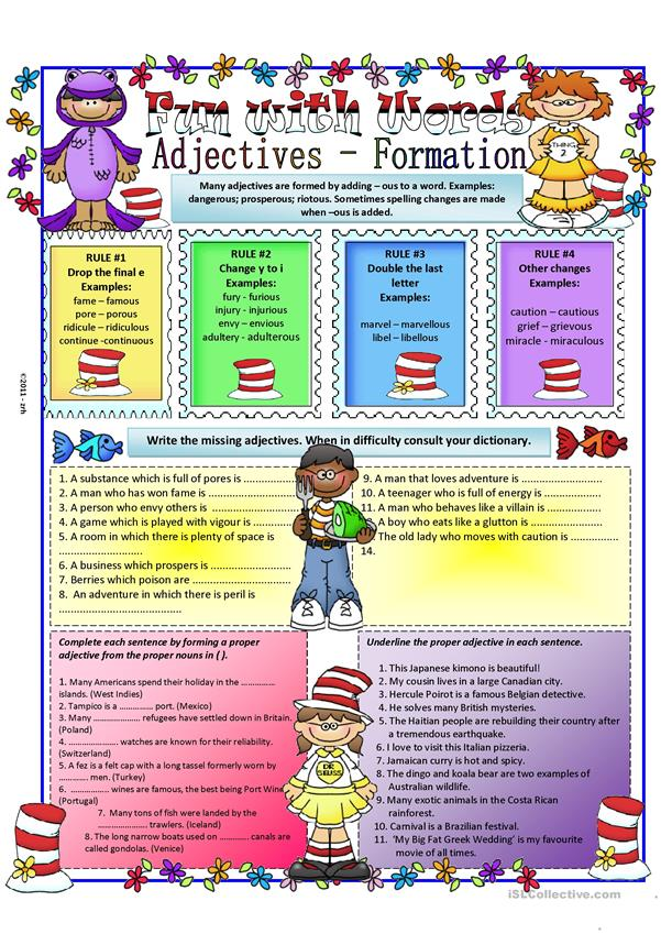 Adjective - Formation