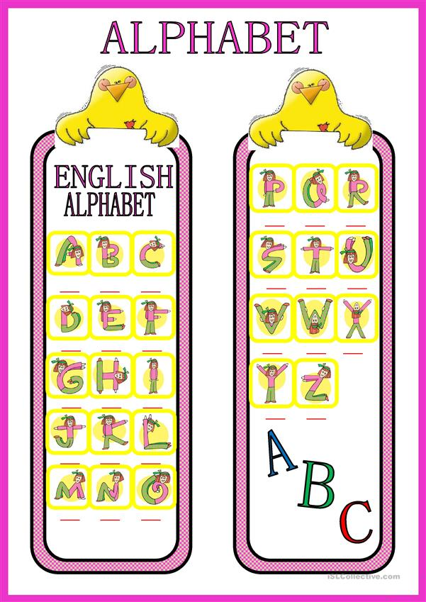 ALPHABET Bookmark