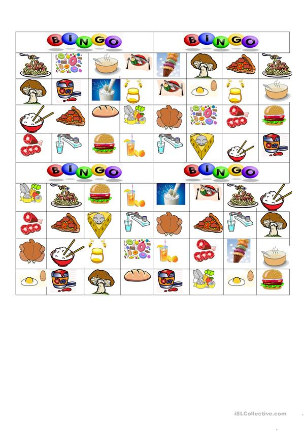BINGO: Food and Drinks