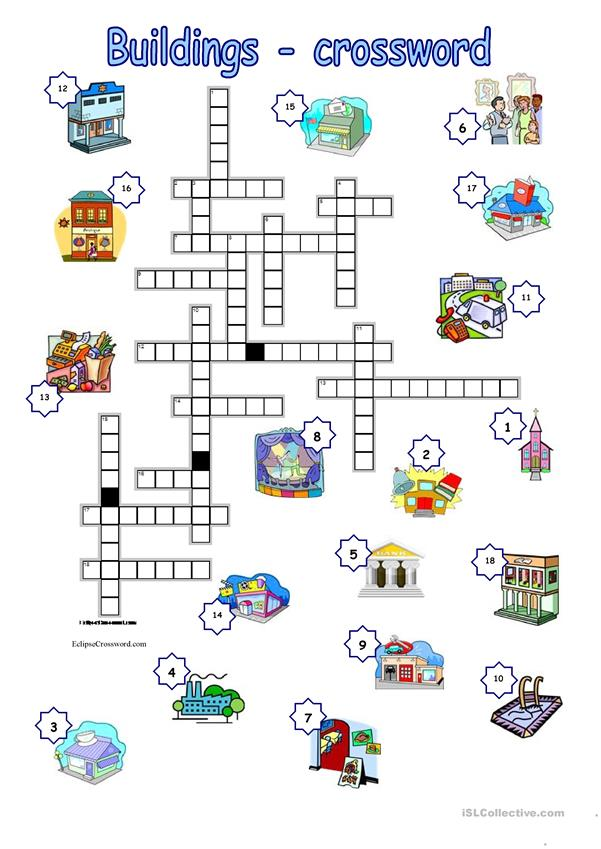 Buildings crossword