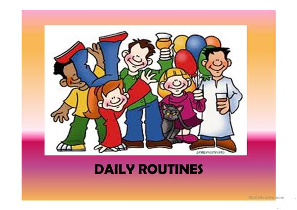 Daily routines (41 slides) extra activities included