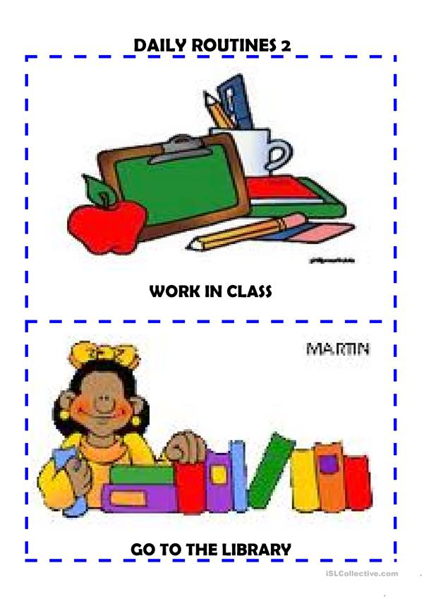 Daily routines flash-cards 2/6