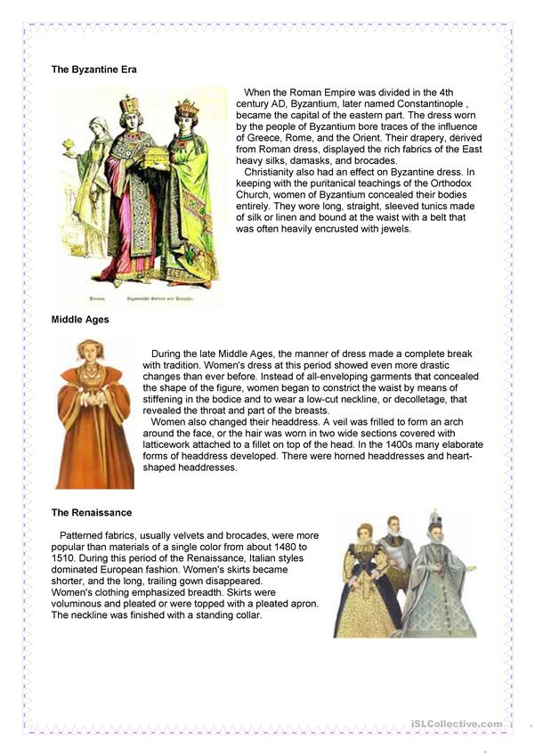 Fashion - History of clothing