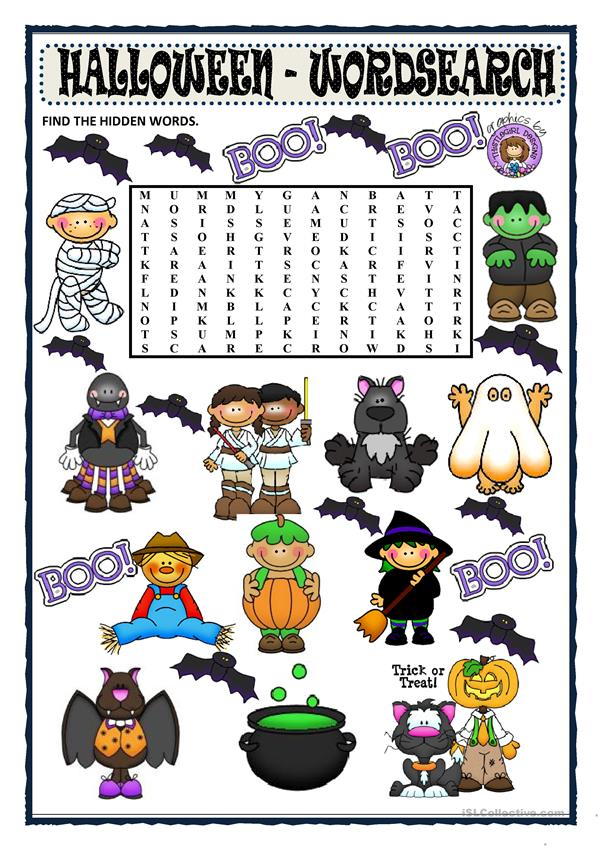HALLOWEEN - WORDSEARCH