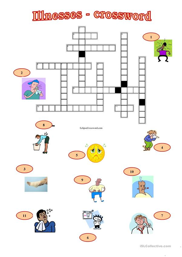 illnesses crossword