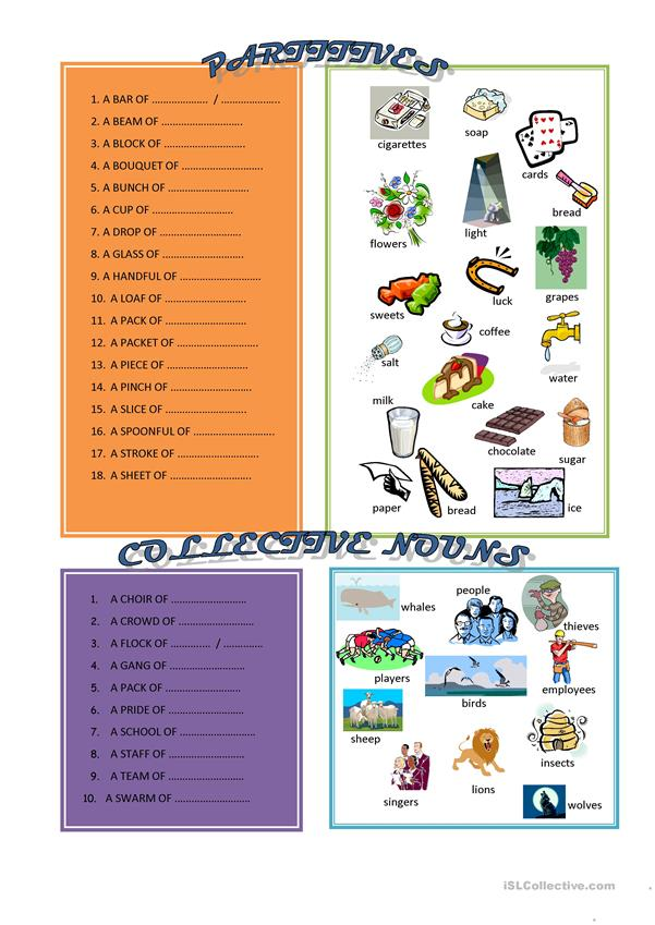 Partitives and Collective nouns