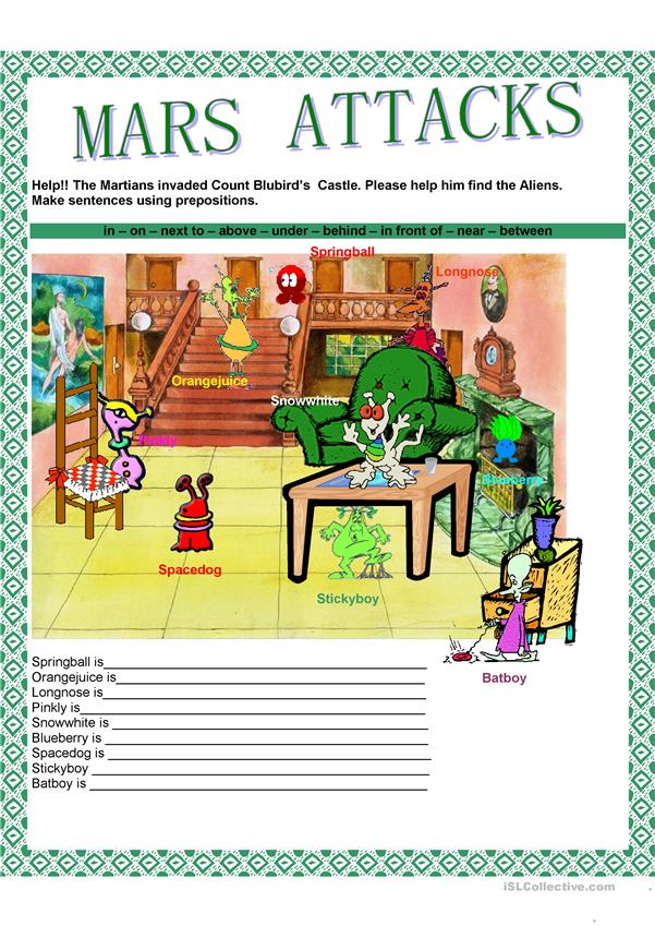 Prepositions - Mars attacks