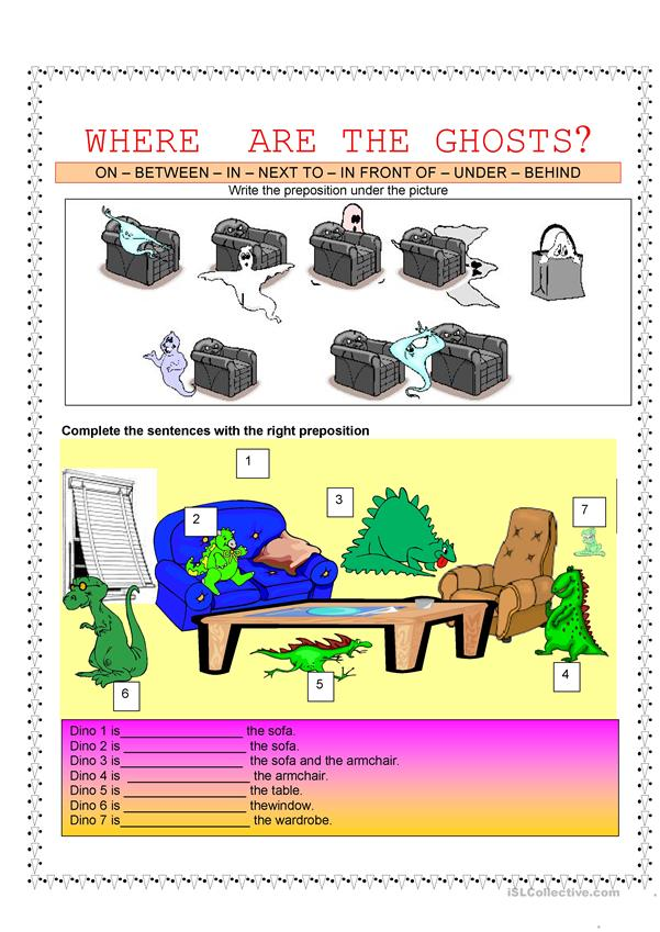 Prepositions - Where are the ghosts?