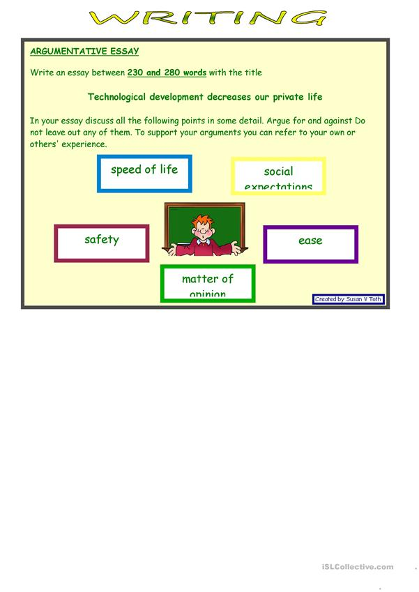 Role play and writing - TECHNOLOGY *** advanced