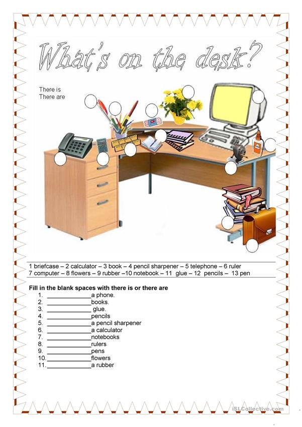 School - What's on the desk?