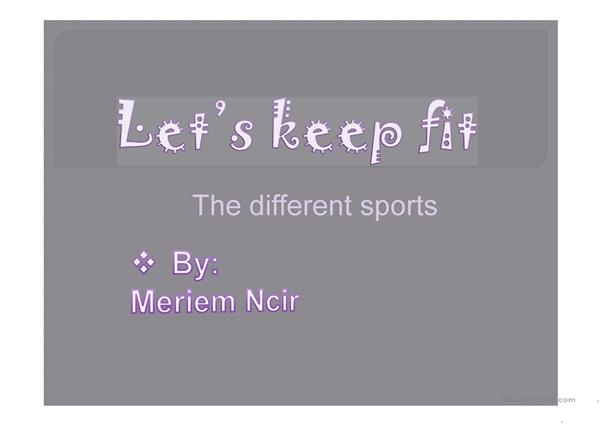 sports to keep fit