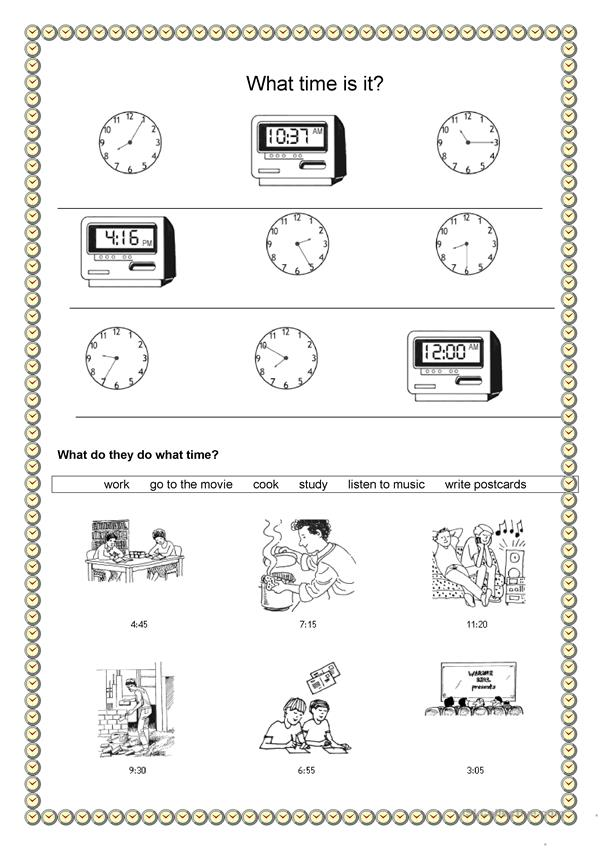 Time and daily routine - What time is it?