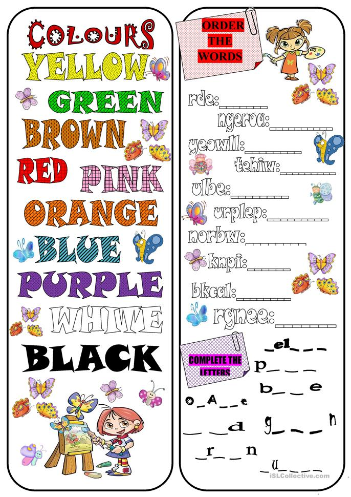 704 FREE ESL Colours Worksheets