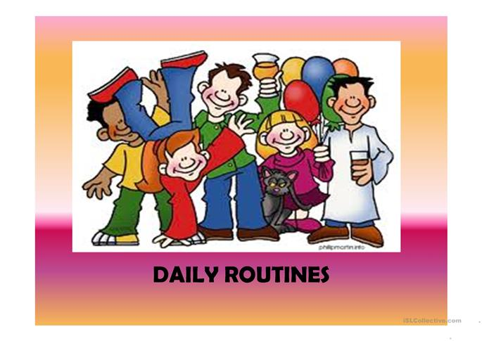 Daily routines (41 slides) extra activities included - ESL worksheets