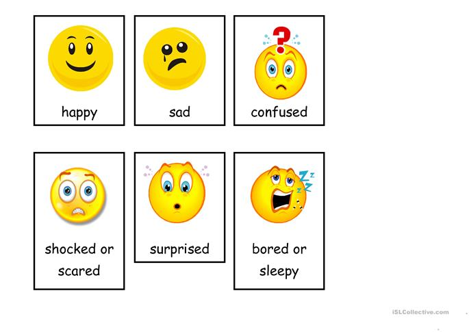Emotions (flashcards) worksheet - Free ESL printable ...