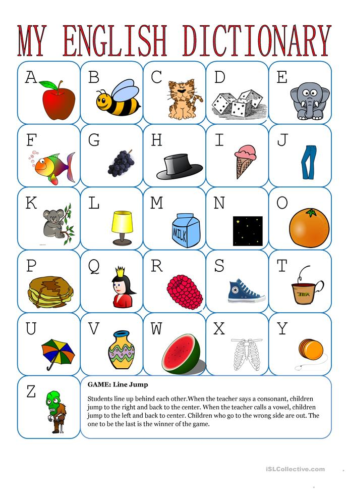 My English Alphabet - ESL worksheets