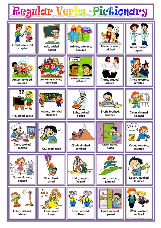 REGULAR VERBS worksheet - Free ESL printable worksheets ...