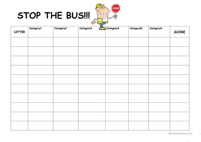 Stop the Bus worksheet - Free ESL printable worksheets made by ...