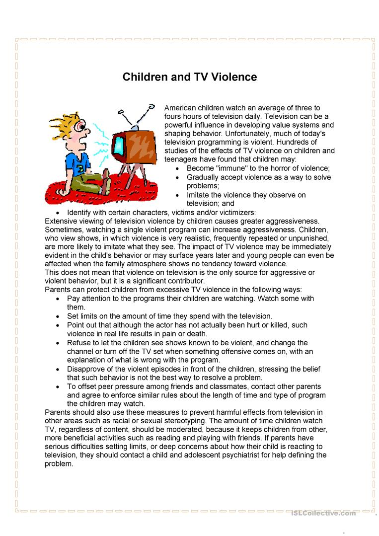 tv cartoons cause violent behavior in children essay Do violent video games cause aggressive behavior - does playing video games cause aggressive behavior because children and teenagers spend an increased amount the securities and exchange board of india essay economy leakages money essay the feminism of hedda.