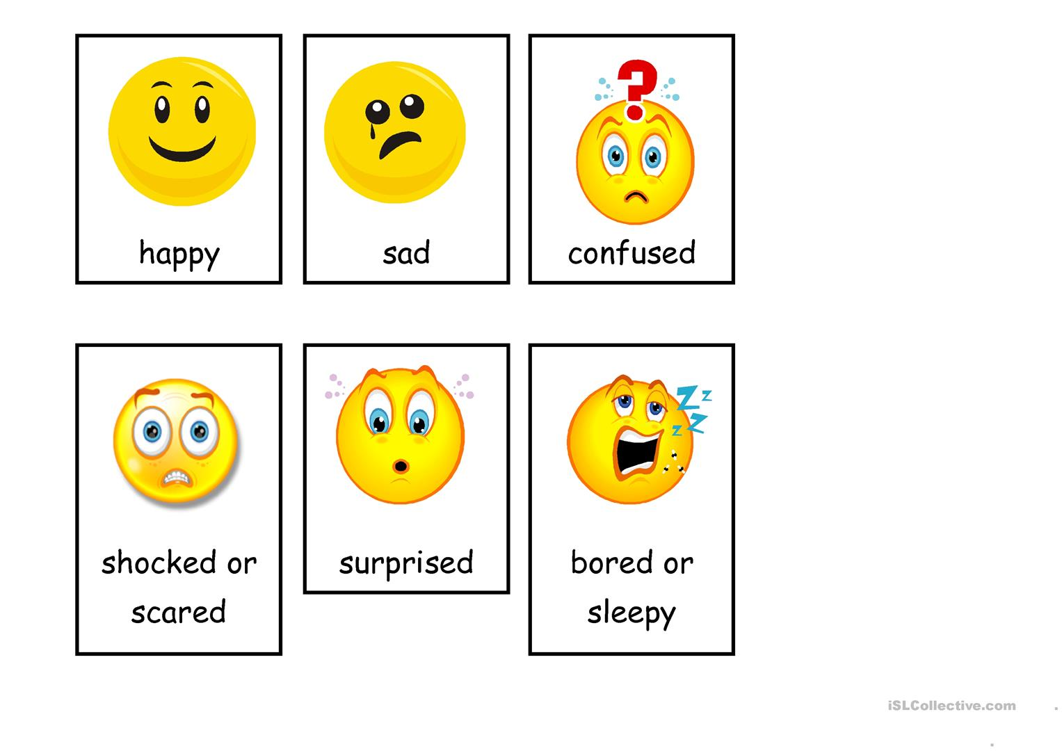 photograph relating to Emotion Flashcards Printable titled Inner thoughts (flashcards) - English ESL Worksheets