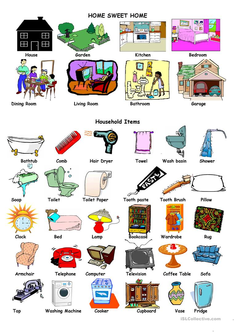 House And Household Items Worksheet Free Esl Printable Worksheets Made By Teachers