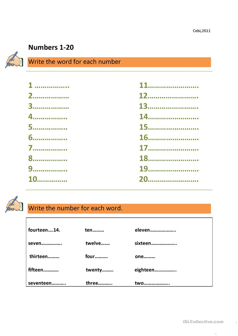 12 free esl numbers 1 100 worksheets numbers 1 100 biocorpaavc Image collections
