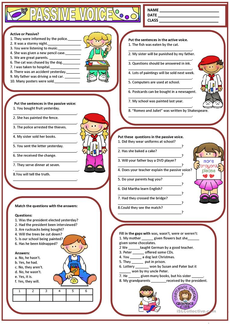 worksheet Passive Voice Worksheet passive voice worksheet free esl printable worksheets made by full screen