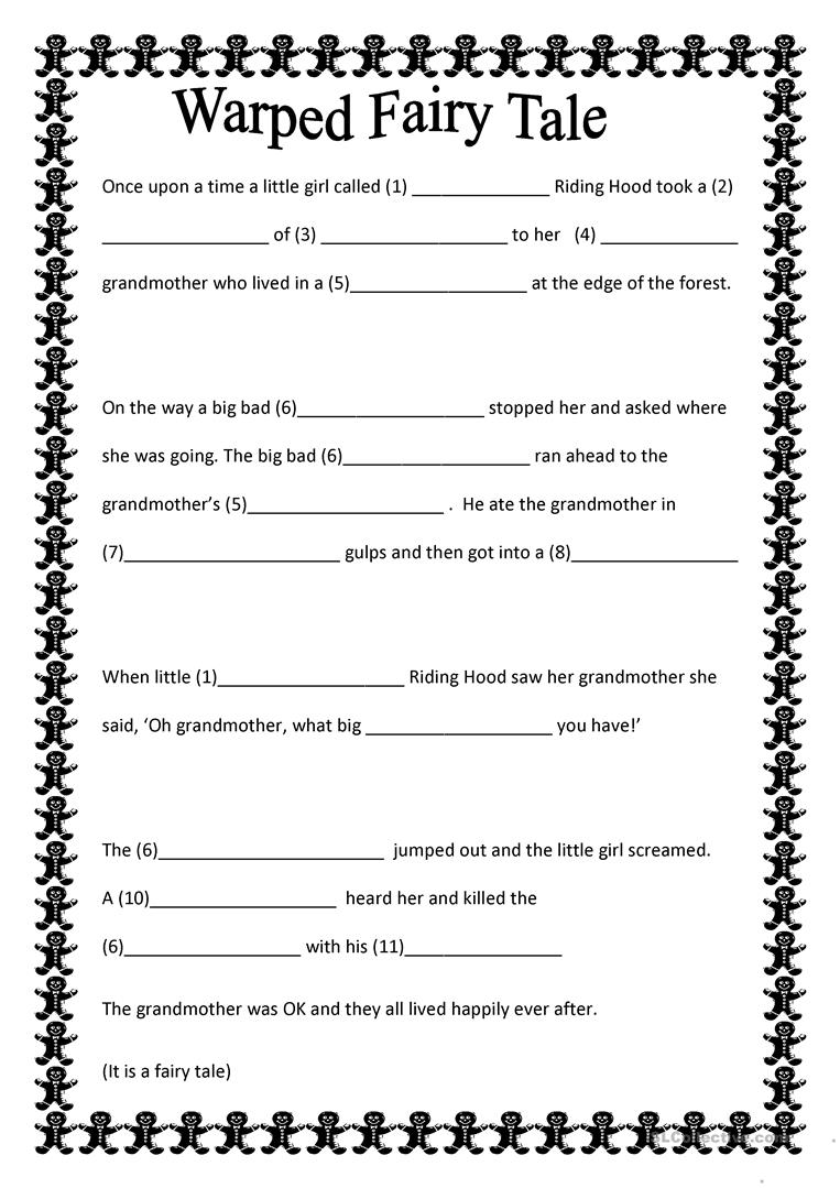 warped fairy tale worksheet free esl printable worksheets made by teachers. Black Bedroom Furniture Sets. Home Design Ideas