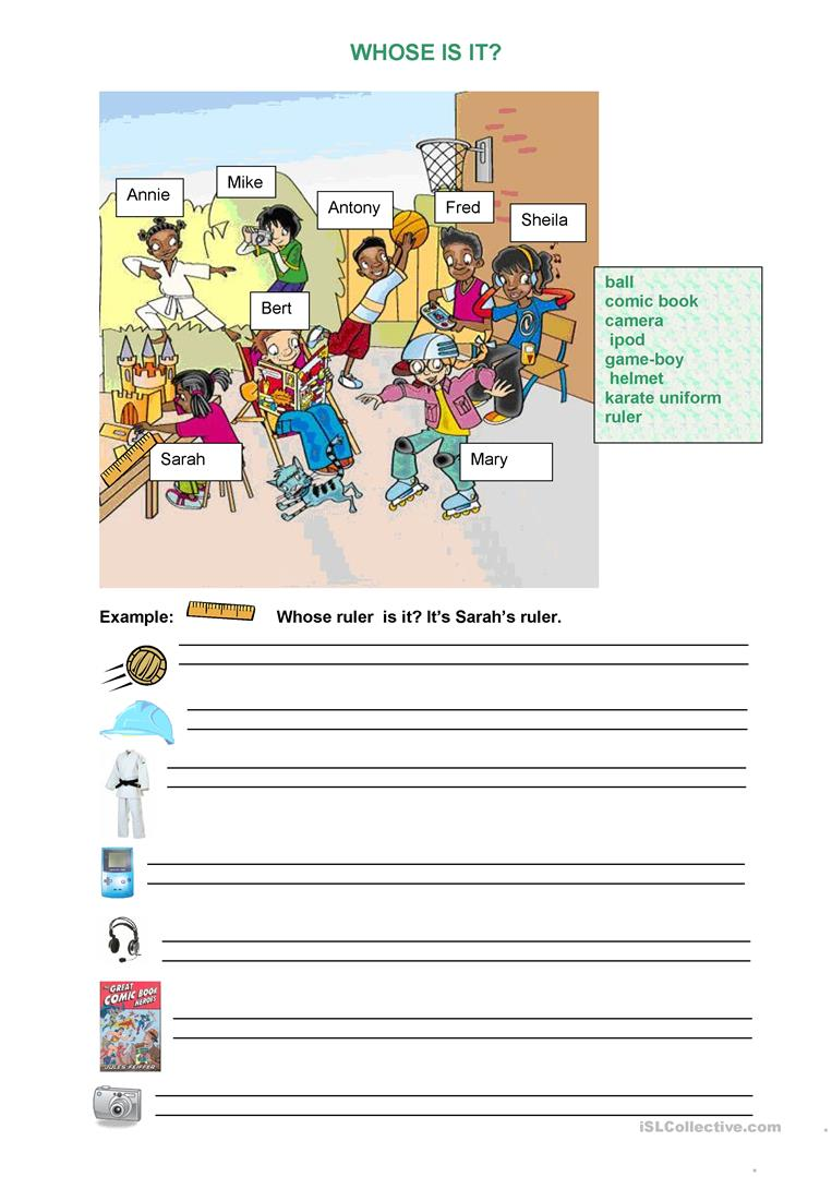 Whose Is It English ESL Worksheets