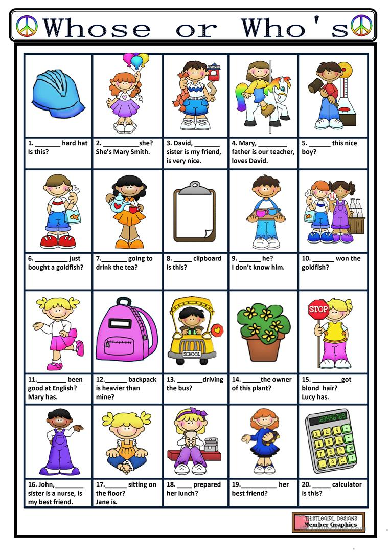 whose or who 39 s worksheet free esl printable worksheets made by teachers. Black Bedroom Furniture Sets. Home Design Ideas