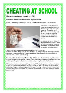 Cheating In College: The Numbers And Research