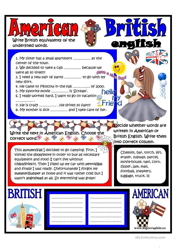 American British English SET II