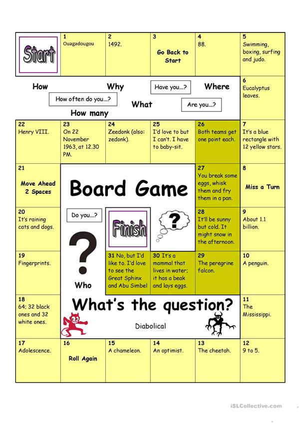 Board Game - What´s the Question (Diabolical)